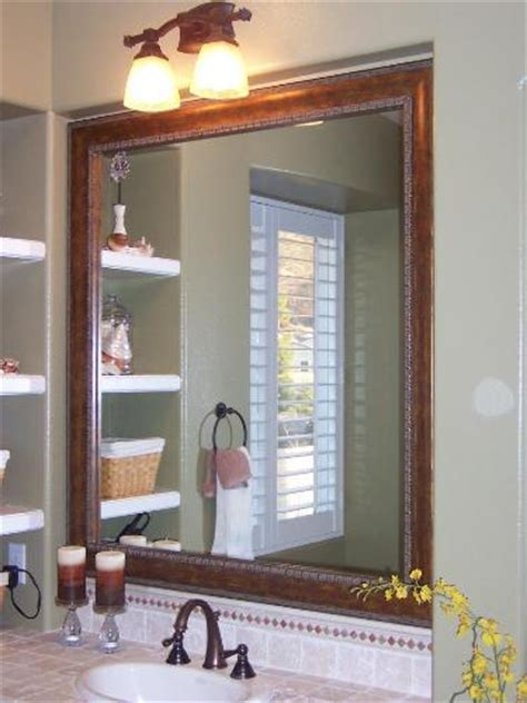 large framed bathroom mirror wonderful framed bathroom mirrors to boost the design of