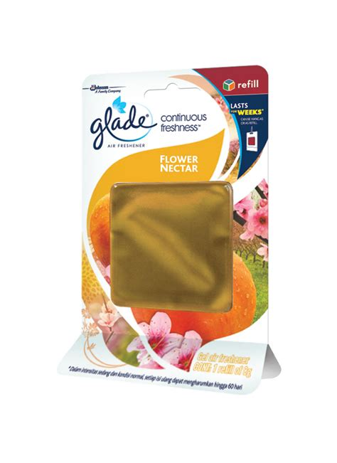 Glade Continuous Freshness Morningmobil glade continuous freshness flower nectar pck 8g klikindomaret