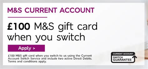 Switch Gift Cards For Cash - m s bank uk 163 100 gift card to switch accounts