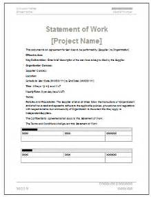 template for statement of work statement of work ms word excel template