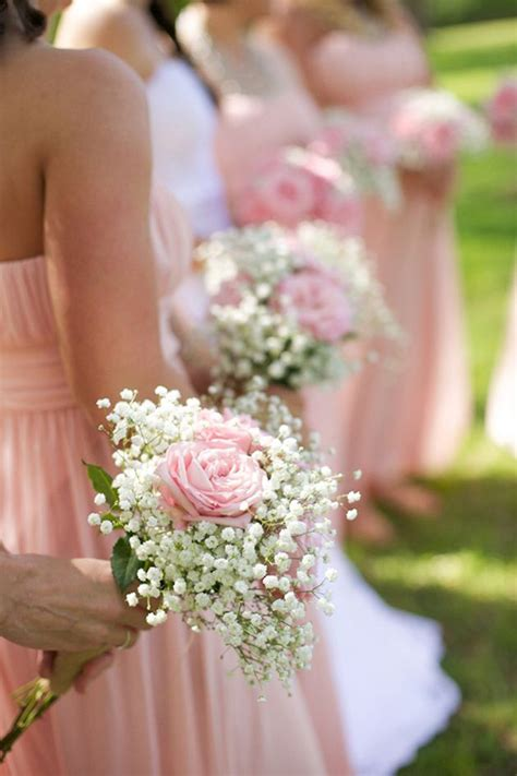 Bridesmaid Bouquets by Wedding Flowers 40 Ideas To Use Baby S Breath