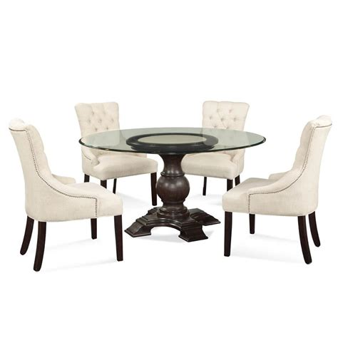 glass top pedestal dining round dining table for 6 glass top www imgkid com the