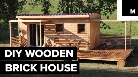 Wooden Bricks diy wooden brick house