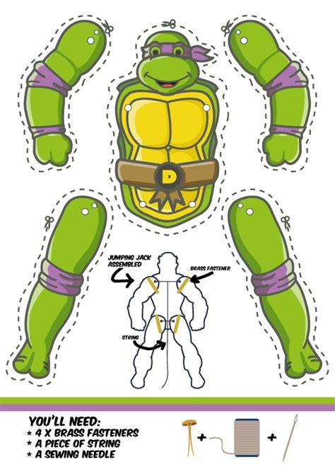 mutant turtles card template mutant turtles jumping jacks