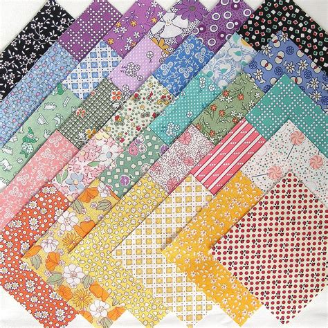 1930s feedsack repro quilt fabric charms 30 4 inch by