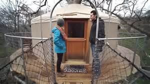 Wraparound Deck Yurt Tree Cabin With A Wrap Around Deck