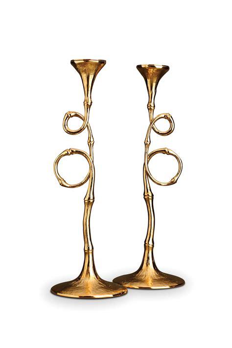 candlestick pattern for gold l objet evoca candlesticks gold set of 2 paris jewelers
