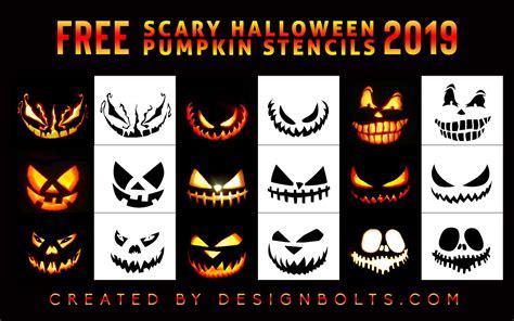 scary halloween pumpkin carving stencils