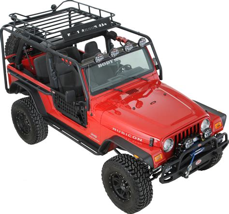 Wrangler Unlimited Roof Rack by Armor Tj 6124 Roof Rack Base Kit For 04 06 Jeep