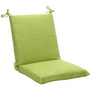 Outdoor Cushion Chairs Squared Solid Green Textured Outdoor Chair Cushion