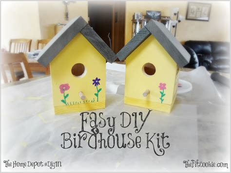 diy home depot easy diy birdhouse kit project the fit cookie