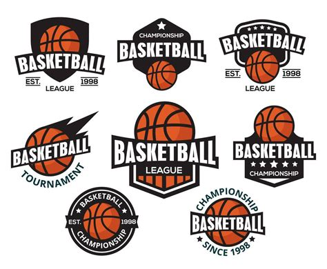Free Basketball Logos Vector American Style Vector Art Graphics Freevector Com Basketball Team Logo Template