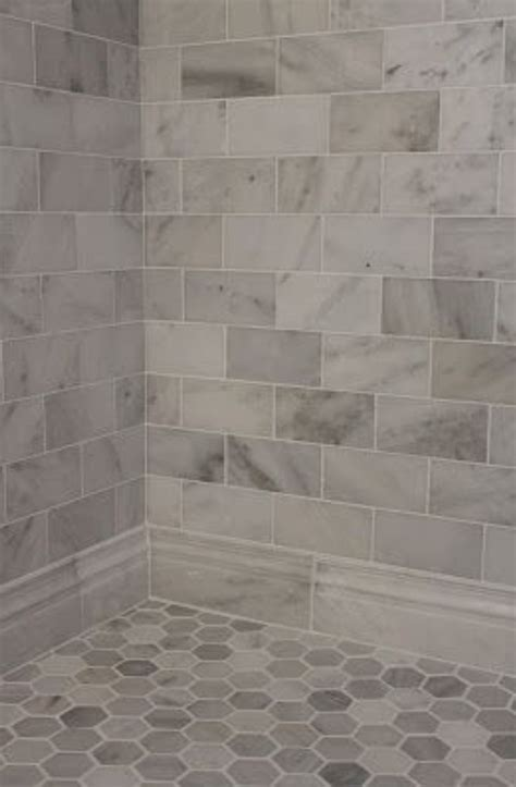 honed marble bathroom carrera marble subway tiles and honed marble hexagon floor