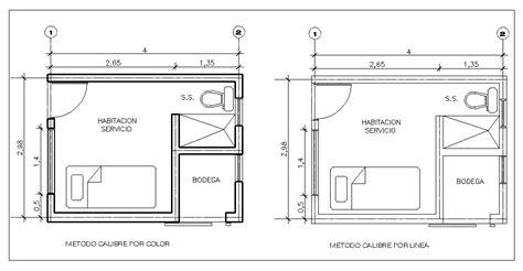 planos en linea autocad calibre grosor o calidad de las lineas