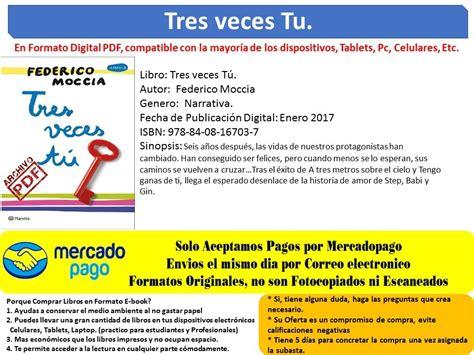 libro el plan de tu libro tres veces t 250 federico moccia en formato pdf s 4 80 en mercado libre