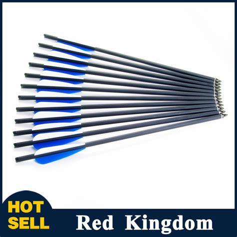 Point Arrow Kuningan 8 Mm 12pcs crossbow arrow od8 8mm bolt carbon arrow archery bow shooting with 125 grain arrow