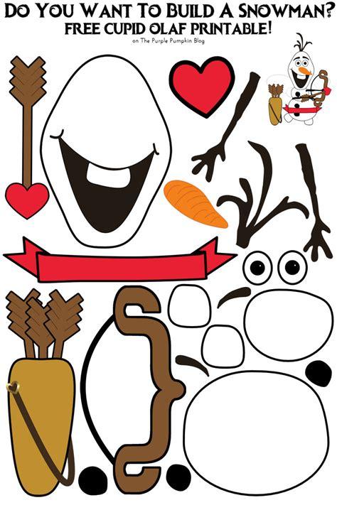 printable olaf build a snowman do you want to build a snowman cupid olaf edition