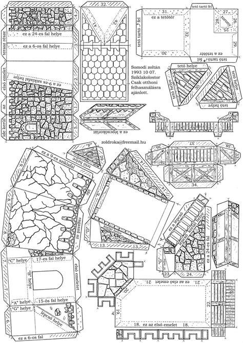 Casas de papel para imprimir e montar - Brinquedos de Papel