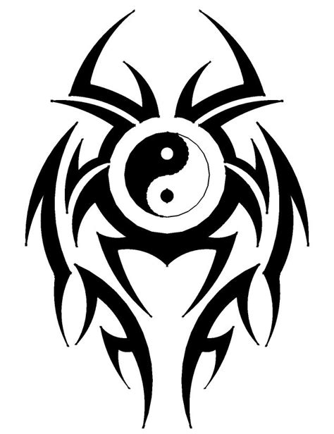yin yang tribal tattoos best 25 tribal designs ideas on cool