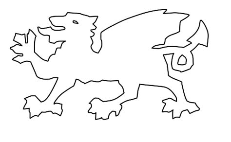 welsh dragon coloring page welsh dragon flag clipart 43