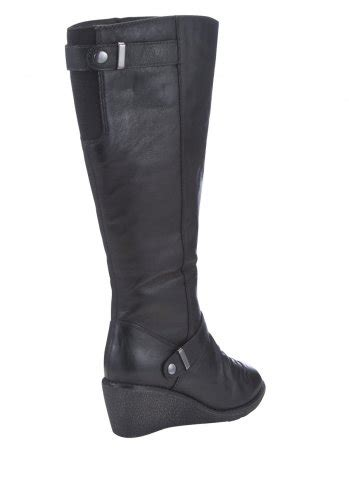 f f sensitive sole real leather wedge knee high boots 163
