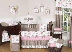 Inexpensive Crib Bedding Sets Sweet Jojo Designs Modern Pink Brown Elephant Baby