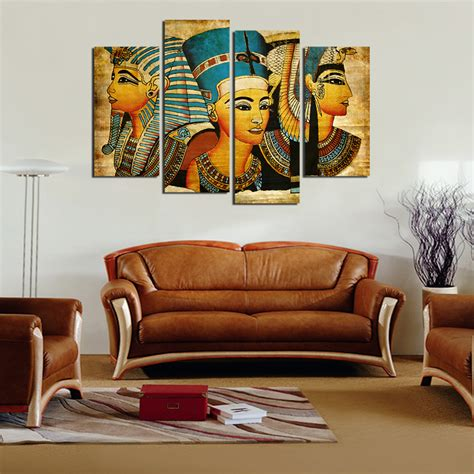 home decoration paintings large wall art canvas pharaoh of egyptian home decoration