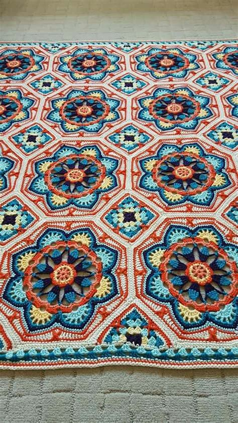 pattern persian tile nice colors вязание pinterest nice crochet and blanket