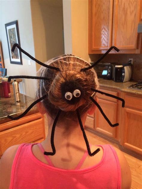 halloween hairstyles spider halloween spider crazy hair day halloween pinterest