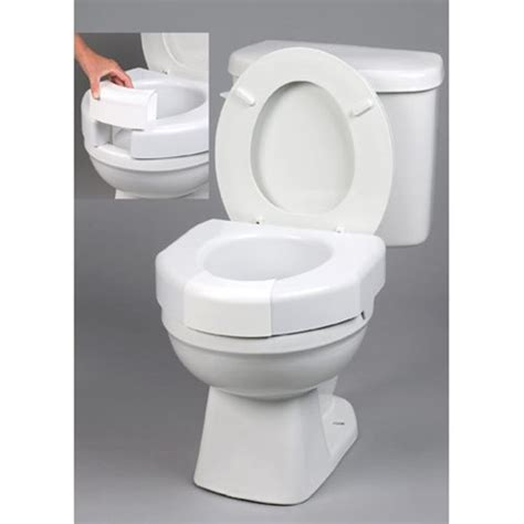 elevated toilet seat ableware open front elevated toilet seat at healthykin
