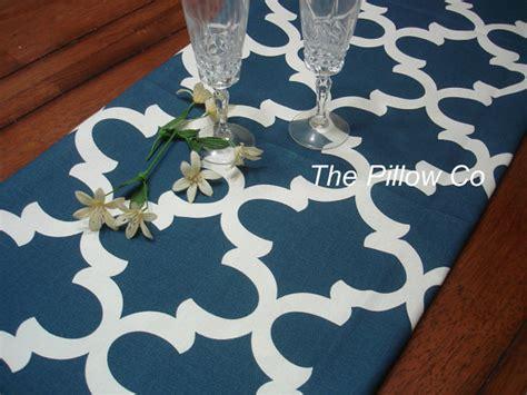 blue table runner table runner blue wedding by