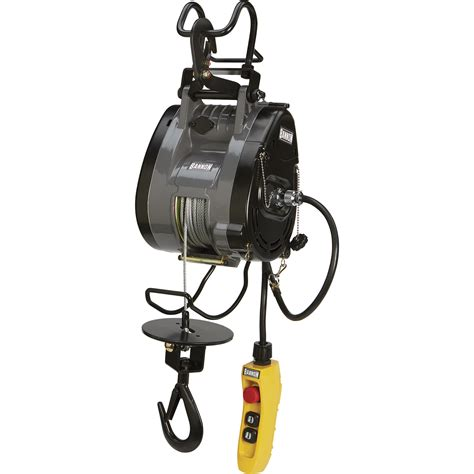 bannon compact electric cable hoist  lbcapacity ft lift  volts  phase