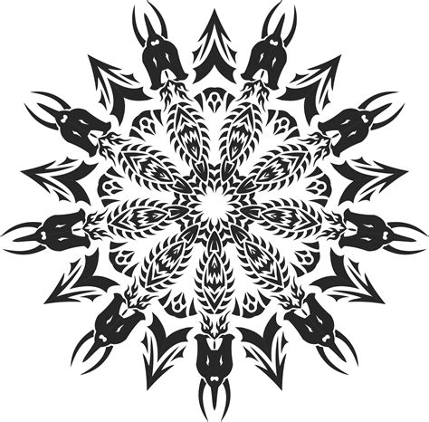 clipart tribal mandala