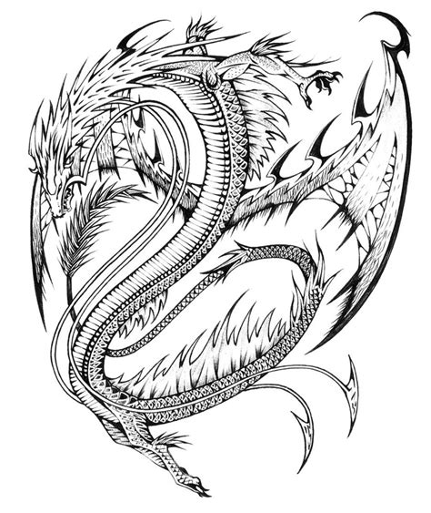 free coloring pages of dragons realistic