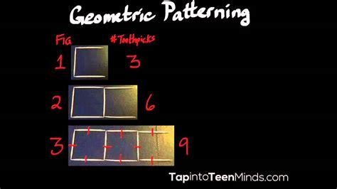 geometric pattern quiz geometric patterning with toothpicks part 2 grade 6