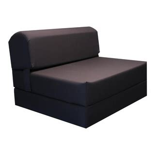brown tri fold foam chair bed mat