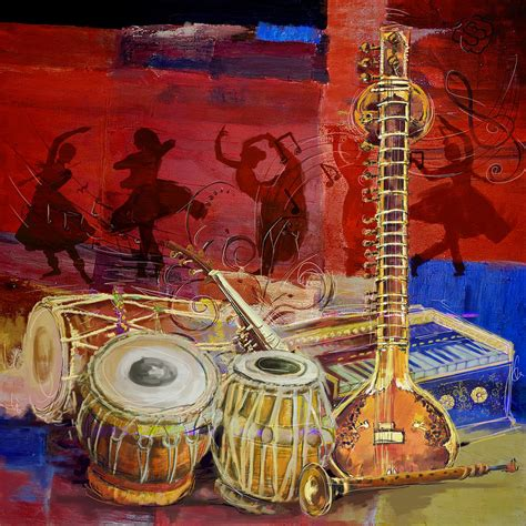 biography of indian classical artist the sitar dhol tabla and harmonium painting by corporate