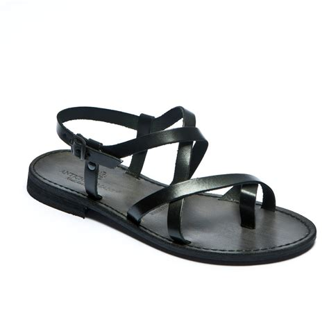 black sandal womens italian leather sandals black flat sandals