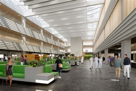 main entrance hall design brief facts about the new hospital nya karolinska solna