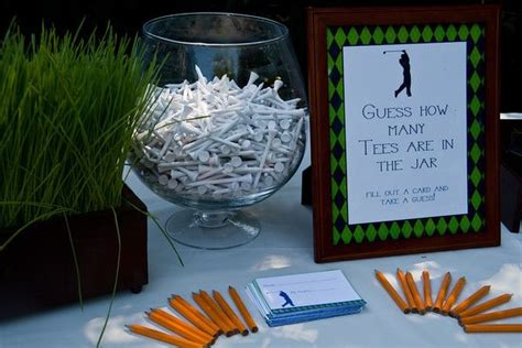 Golf Tournament Giveaways Ideas - guess how many golf tees golf pinterest jars food tables and golf party