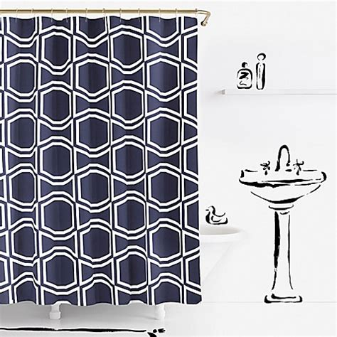 bed bath and beyond kate spade kate spade new york bow tile shower curtain bed bath