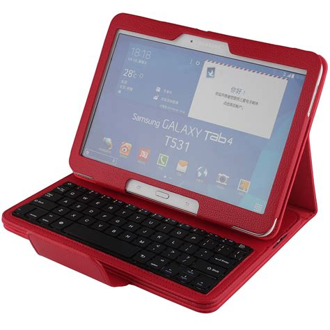 Keyboard Samsung Tab 4 wireless bluetooth keyboard pu leather cover protective smart for samsung galaxy tab 4 10