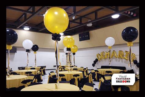 Black And White Balloon Centerpieces » Home Design 2017