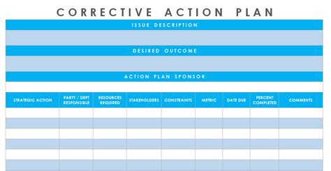 Get Corrective Action Plan Template Excel Microsoft Excel Templates Project Management Corrective Plan Template