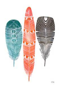 water color feather watercolor feather painting archival print 5x7 by riverluna