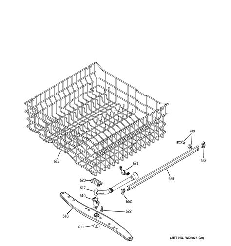 hotpoint dishwasher parts diagram hotpoint dishwasher lower rack assembly parts model