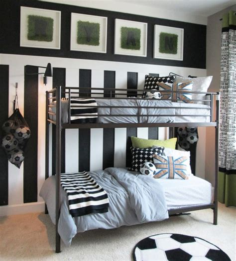 15 awesome kids soccer bedrooms home design and interior double beds soocer ideas