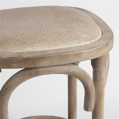 Rattan Backless Counter Stools by Gray Yasmin Backless Counter Stool With Rattan Seat