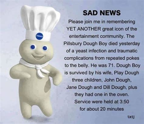Pillsbury Dough Boy Quotes