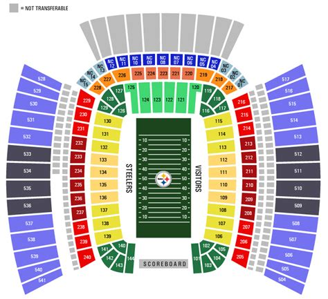 pittsburgh seating chart pittsburgh steelers heinz field seating chart pictures